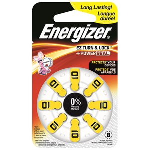 PILE AUDITIVE ZINC AIR SIZE 10 ENERGIZER 8PK
