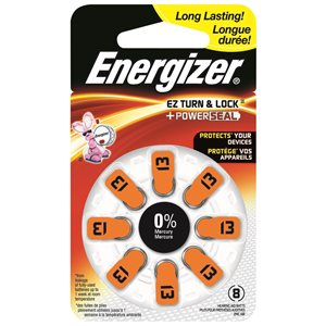PILE AUDITIVE ZINC AIR SIZE 13 ENERGIZER 8PK