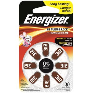 PILE AUDITIVE ZINC AIR SIZE 312 ENERGIZER 8PK