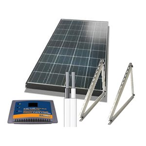 KIT SOLAIRE POLY 120 WATTS POUR CHALET