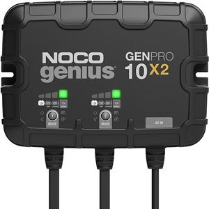 CHARGEUR AUTOMATIC GENNIUS 12V 20A 2 BANQUES ON-BOARD