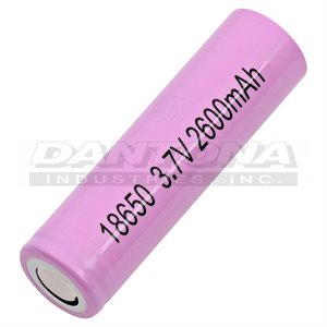CELLULE 18650 3.6V 2500MAH LI-ION SANS PROTECTION